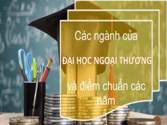 Các ngành của Đại học ngoại thương và điểm chuẩn các năm